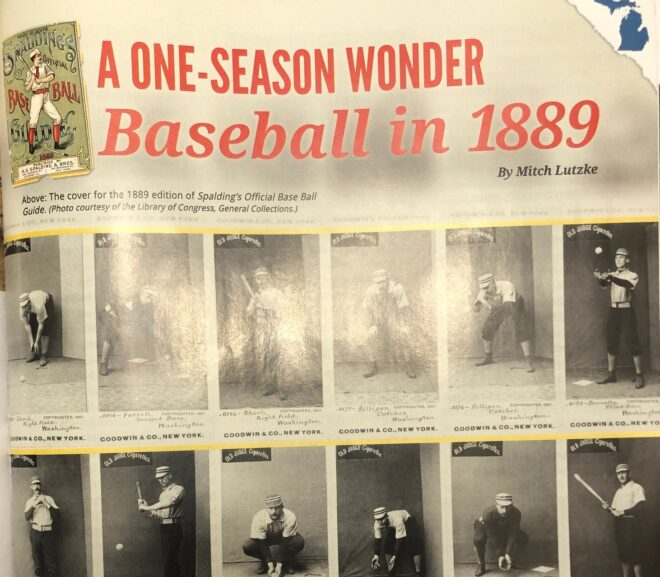From Michigan History Magazine: A One Season Wonder: Baseball in 1889
